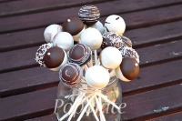 Chocolate bouquet cake pops