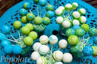 Flouro blue green cake pops