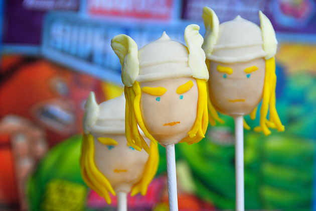 Thor cake pops