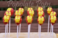 Iron man cake pops