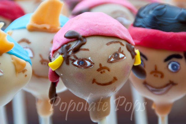 Jake And The Neverland Pirates Cake Pops Izzy Pirate Cake Pops