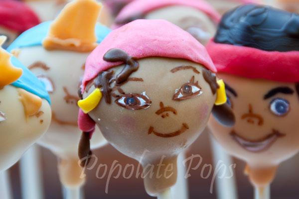 Izzy pirate cake pops