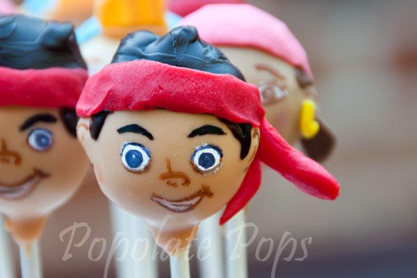Jake the pirate cake pops
