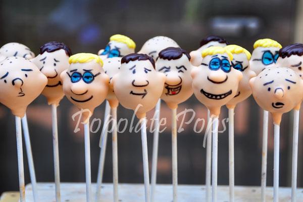 Ricky Gervais Show cake pops