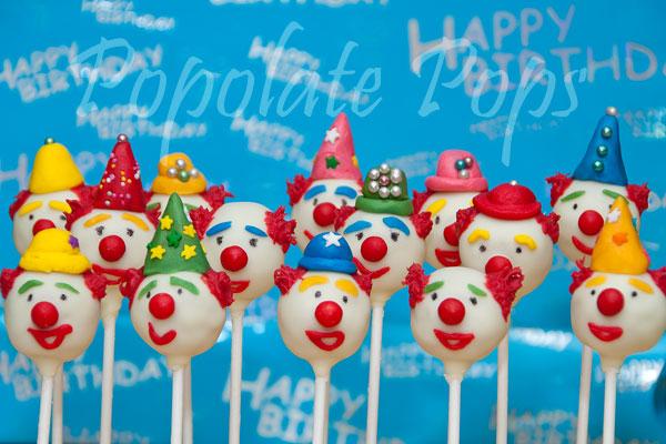 Circus clown cake pops