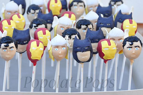 Superhero Cake Pops Sydney