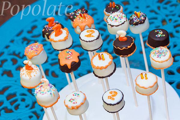 Cake shaped cake pops