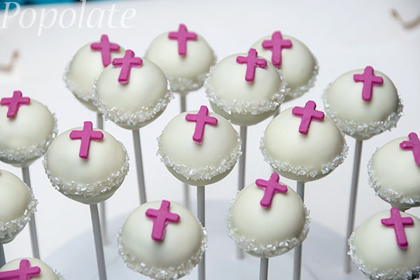 Cake Pop Designs For Christening : Christening cake pops Popolate cake pops