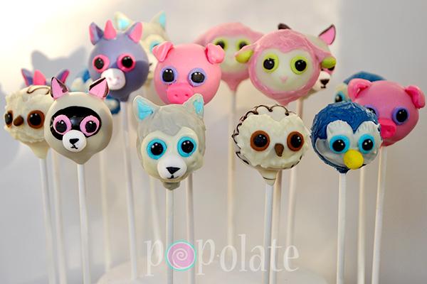 Beanie Boo cake pops