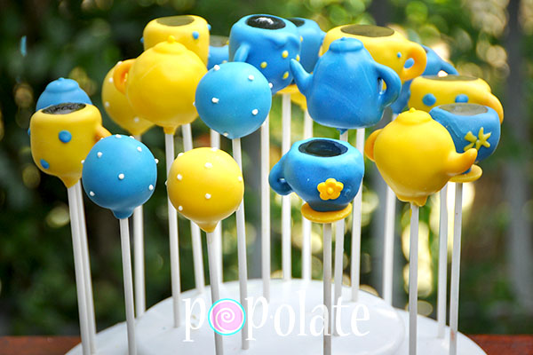 Cancer council biggest morning tea cake pops blue yellow