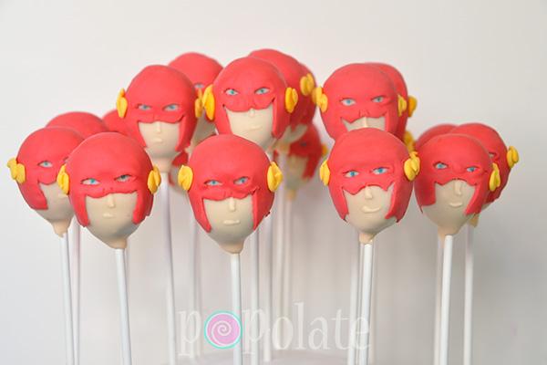 Flash cake pops superhero comic series Barry Allen