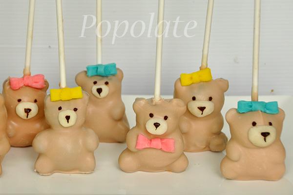 Full body teddy bear cake pops