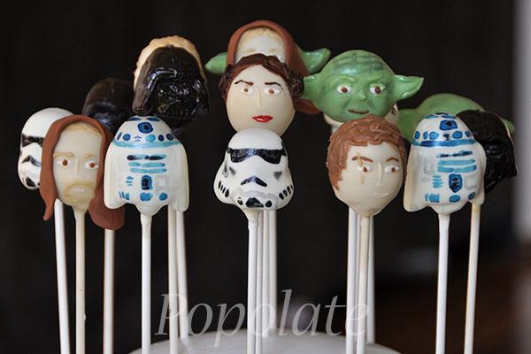 Star Wars Cake Pop Images : Star Wars cake pops Popolate cake pops