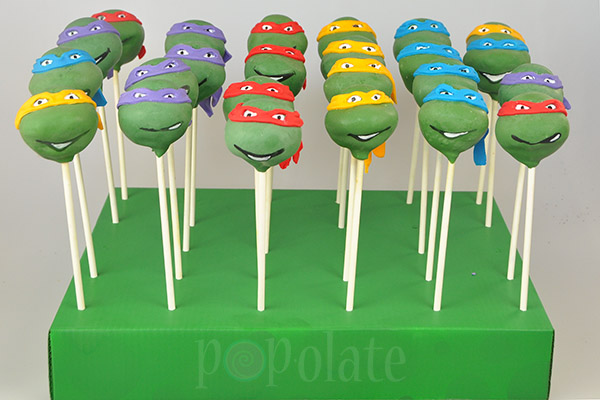 tmnt Teenage Mutant Ninja Turtle cake pops