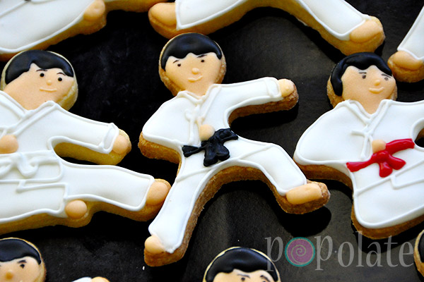 Martial arts biscuits karate judo kungfu