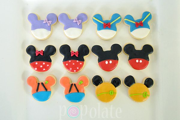 Mickey Mouse clubhouse cookies Pluto Goofy Minnie Daisy Donald