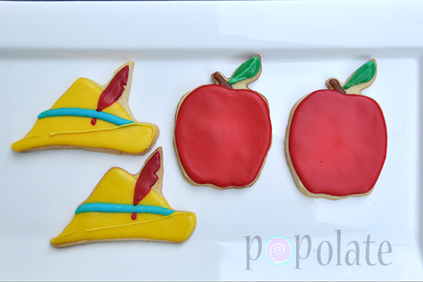 Pinocchio hat iced biscuits cookies decorated