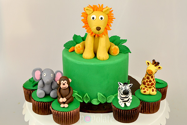 Jungle Animal Cake Cupcakes