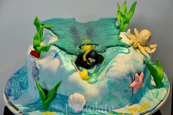 Under the sea scuba diving cake