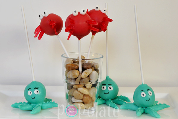 Under the sea cake pops