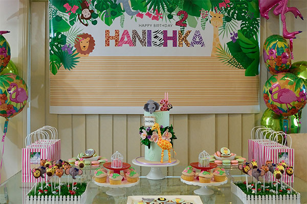 Girly jungle animals party s