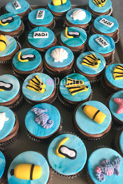 Under the sea cupcakes scuba divinig diver