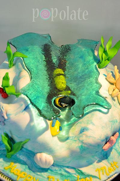 Scuba diver cake underwater PADI diving