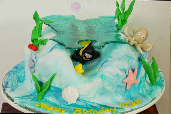 Scuba diver PADI cake