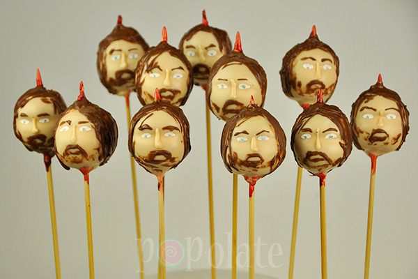 Game of Thrones cake pops Ned stark decapitated bloody