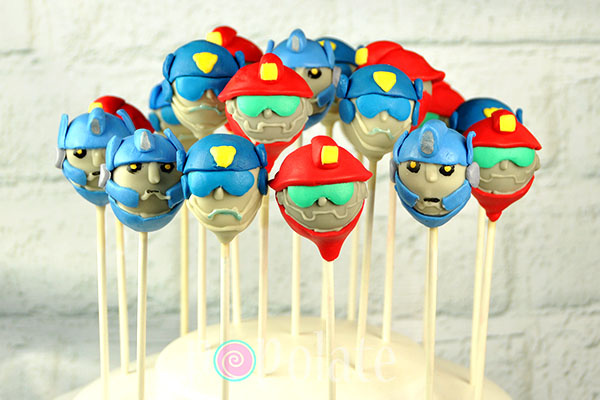 Rescue Bot cake pops Transformers